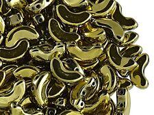 CHOOSE COLOR! 25pcs Arcos ®par Puca Beads 5x10mm,Czech Glass Pressed