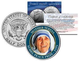 Image Is Loading MOTHER TERESA NOBEL PEACE PRIZE 1979 Medal Winner