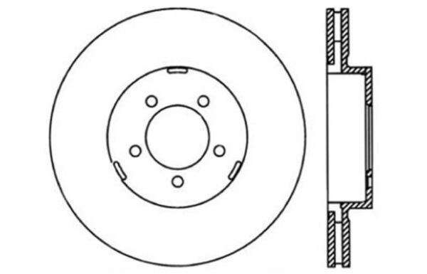 Disc Brake Rotor C Tek Standard Brake Rotors Centric Fits 03 05