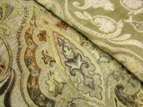 Wd41Aa Light Tan Damask Chenille Flower Throw Cushion Cover//Pillow Case *Size