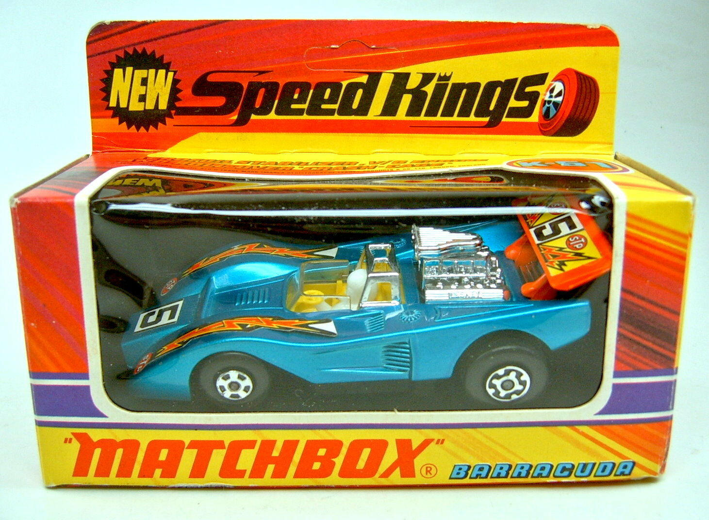 Matchbox superking K -51 Barracuda met. blu aaranciado alerón en Box