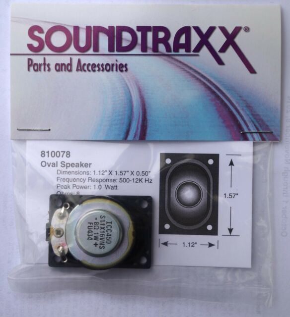 Soundtraxx Oval Speaker 40mm x 28.5mm 8 ohms high output, great sound