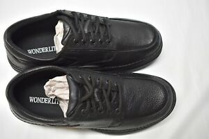 wonderlite men's vinnie pebbled black leather oxford shoes