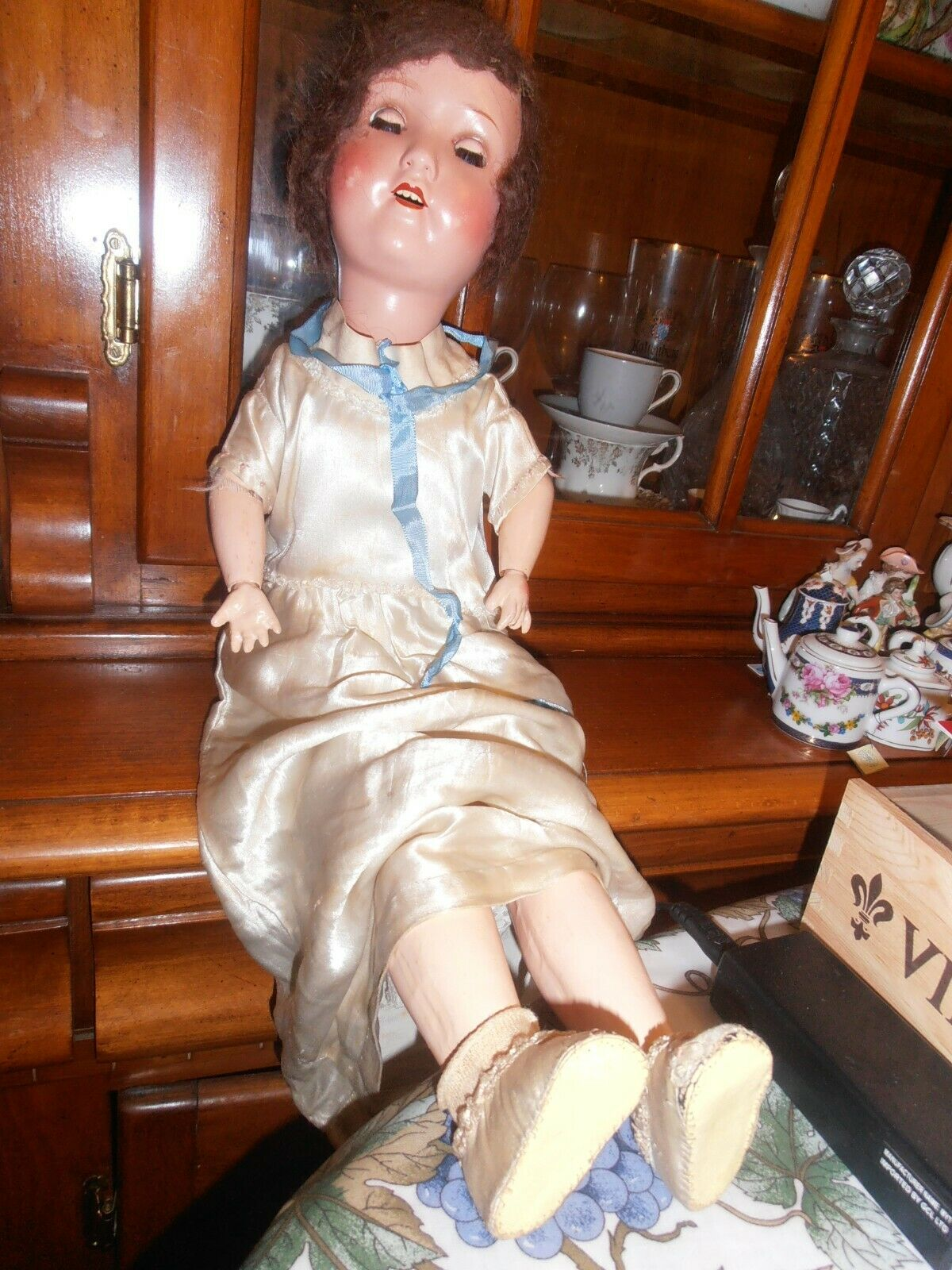 24    L4 GERMANY Bisque Head Doll 244c6a