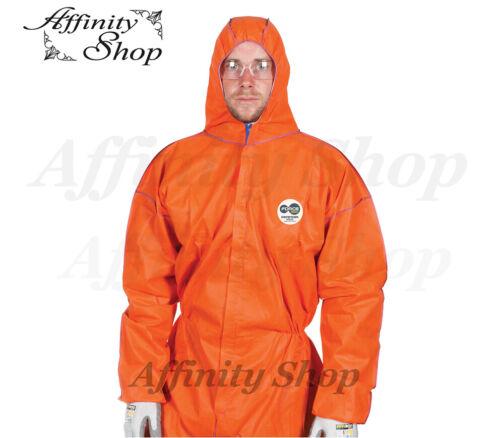 5x Force360 Defender Disposable Coveralls CFPR181 Orange Safety Suit AS//NZS Cert