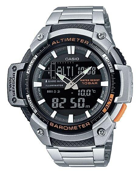 Casio SGW-450HD-1BE Orologio Uomo Altimetro Barometro Termometro 5 Sveglie Timer