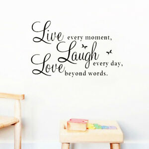 Live Inspirational Quotes Wall Stickers Office Bedroom Decorations