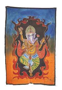 Batik Lord Ganesh Elefante 115x 74cm Artigianato India Peterandclo 8791