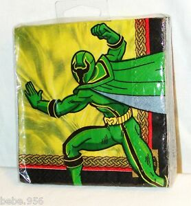 NEW-POWER-RANGERS-16-DESSERT-NAPKINS-PARTY-SUPPLIES