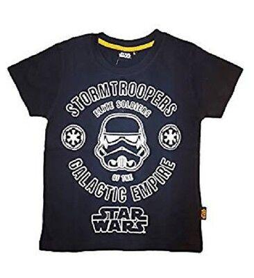 Caritatevole Disney T-shirt Bimbo Mezza Manica Puro Cotone Star Wars Art. 71-222