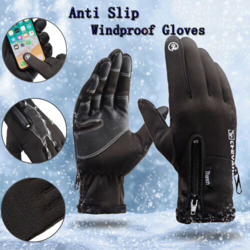 Touchscreen Gloves Windproof Gloves Anti Slip Mittens Winter Fleece Thermal