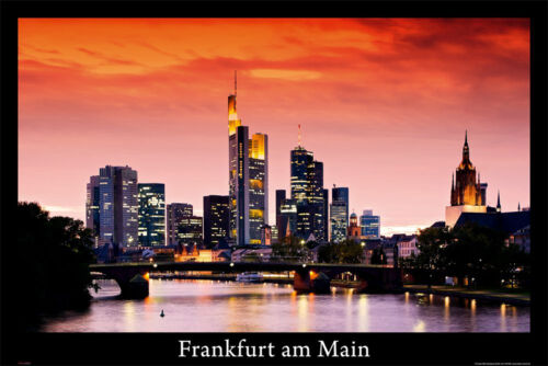 Frankfurt am Main Poster mit Gratisposter