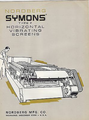 #MISC-0991 -  1955 NORDBERG YMONS HORIXONTAL VIBRATING SCREENS BROCHURE