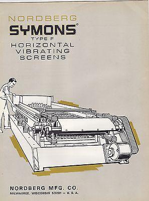 #MISC-0991 -  1955 NORDBERG YMONS HORIXONTAL VIBRATING SCREENS BROCHURE
