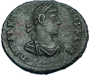 VALENTINIAN-II-w-Woman-378AD-Rome-Authentic-Ancient-Roman-Coin-VICTORY-i65801