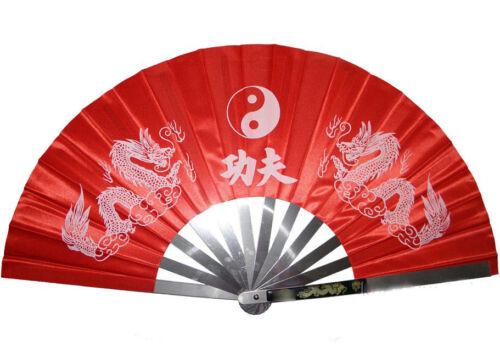 Wushu Taichi Kungfu Stainless Steel Fan Kung Fu Martial Arts Weapons Equipment