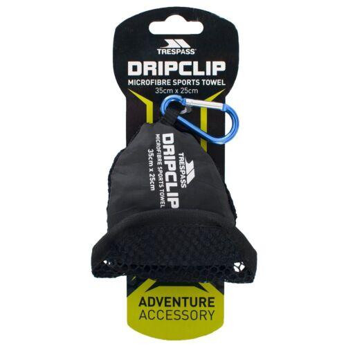 Trespass Dripclip Microfibre Towel Keyring With Carabiner Clip TP551