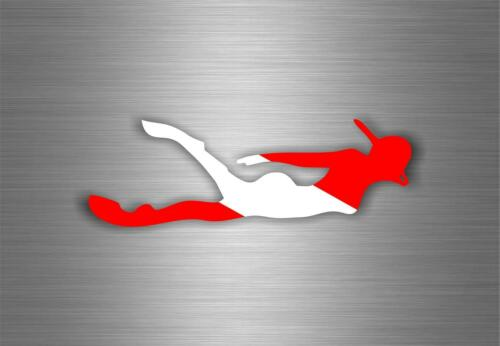 Autocollant sticker macbook drapeau voiture moto club plongeur plongee scuba