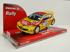 Slot-Car-Scx-Scalextric-6278-Peugeot-206-29-Pyr-Domingo-Garduno