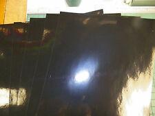 "vinyl self adhesive black gloss 8""x 12"" (5)sheets 3mil thk see photos"