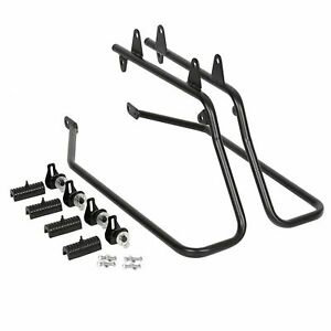 Hard Saddlebag Saddle bag Conversion Brackets Fit For Harley Softail w/ Hardware