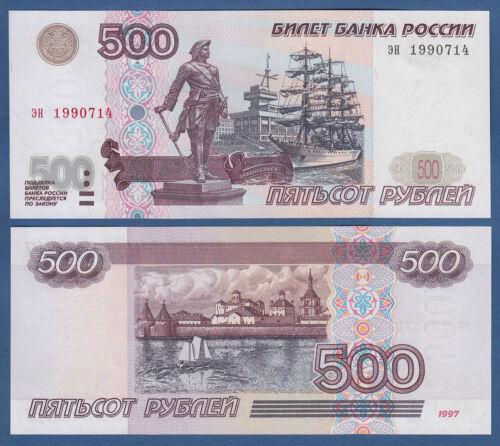 2001 UNC  P.271 b RUSSIA 500 Rubles 1997