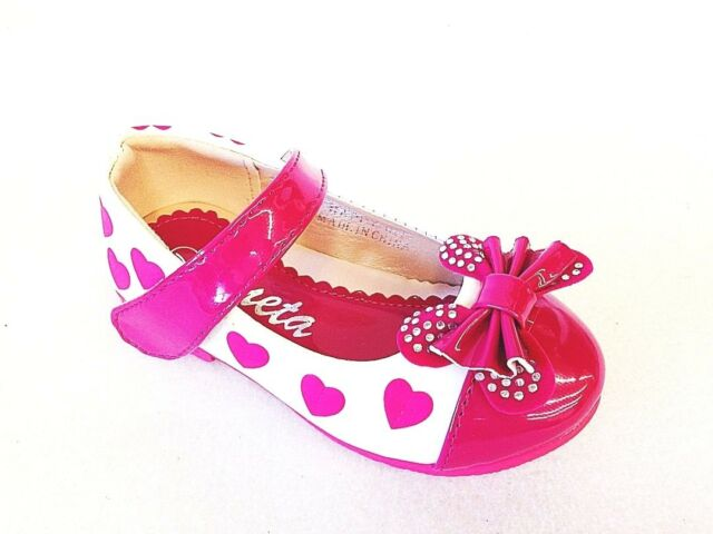 New Girls Infant Toddler Bow Ballet Synthetic Flats Dress Flate Shos Happy-03 I