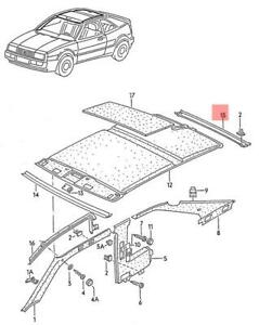 Genuine Vw Corrado Roof Frame Trim 5358676174fb Ebay