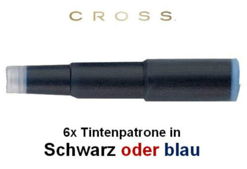 CROSS Füllfederhaltertintenpatronen,in SCHWARZ oder BLAU Tintenpatronen 8920//31S