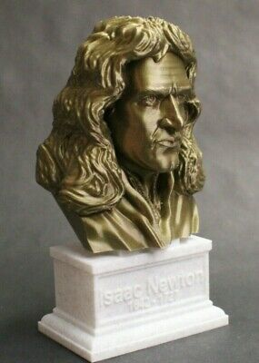 Sir Isaac Newton 3D Printed Bust Famous English Mathematician Art FREE SHIP