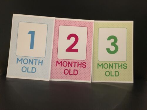 Milestone Baby Cards,baby Shower Gift New Baby Month By Month /& more