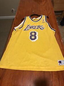 Details about Vtg Kobe Bryant Champion Jersey Sz 52 XXL Gold Los Angeles Lakers Worn