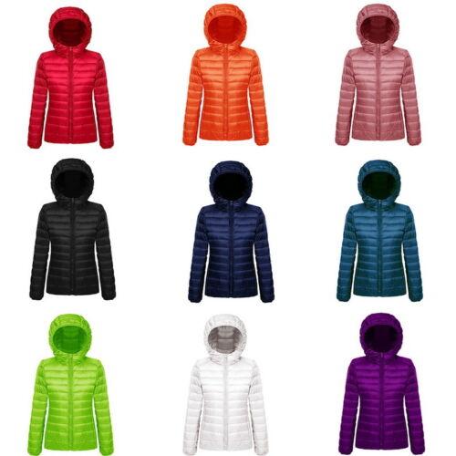 Winter Womens Hooded Coat zipper Trench Jacket Parka Outwear Overcoat US Newly