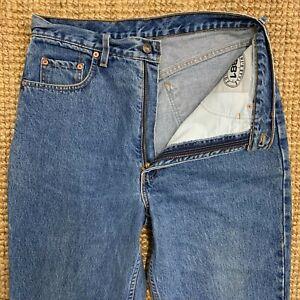 VINTAGE-LEVI-039-S-STYLE-881-ORANGE-LABEL-Blu-Denim-Jeans-Taglia-W34-L30-chiusura-zip