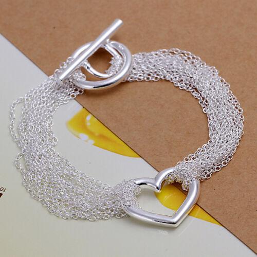 Livraison gratuite 925 Argent Femme Fashon Bijoux Cadeaux chaîne Hommes Bracelet H006-4