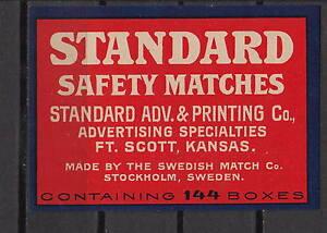 Ancienne étiquette de paquet allumettes Suède AZ593 Standard RpZbnnSS-09154353-381637202