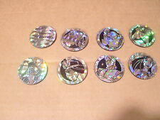 POCAHONTAS POG CANADA GAMES COMP. SET of ALL 8 SILVER PRISM/LIKE SLAMMERS/KINIS