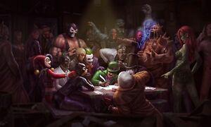 DC-Comics-Villanos-Guason-Pinguino-Acertijo-Pared-Cuadro-lienzo-Impresion-Varios-Tamanos