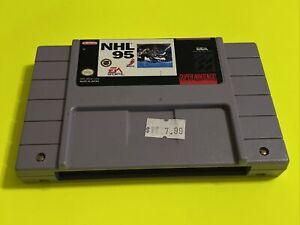 🔥💯 WORKING SUPER NINTENDO SNES GAME CARTRIDGE 🔥 CLASSIC EA SPORTS🔥 NHL 95