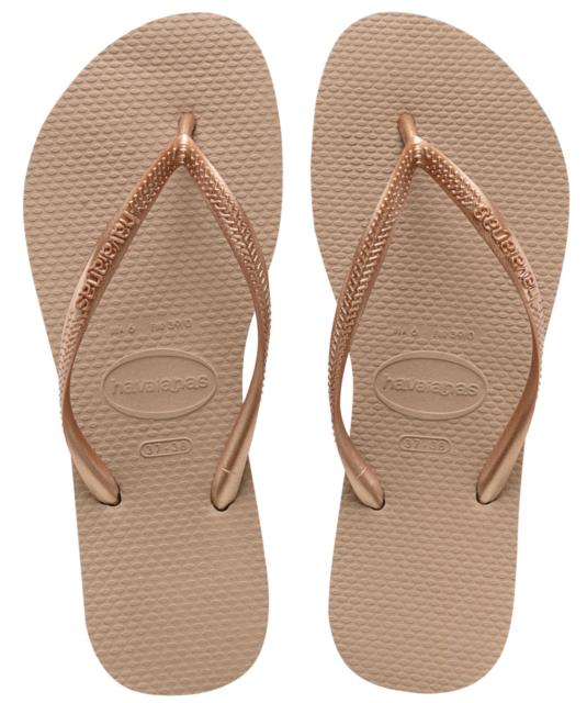 b18ec903ed1 Womens Havaianas Slim Flip Flops Rose Gold Sandals UK 4 - 5 for sale ...