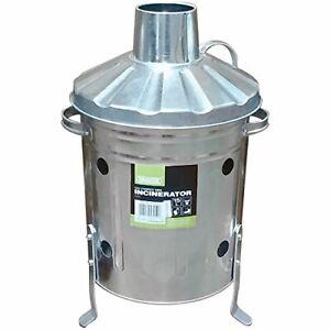 Draper-53250-galvanise-Mini-Incinerateur-Argent-15-litre