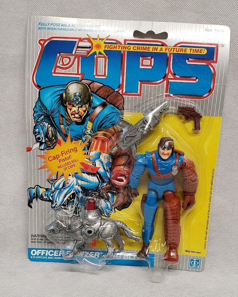 1988 Hasbro Brand New Cops N Crooks C.O.P.S. Bowzer & Blitz Action Figure MOC