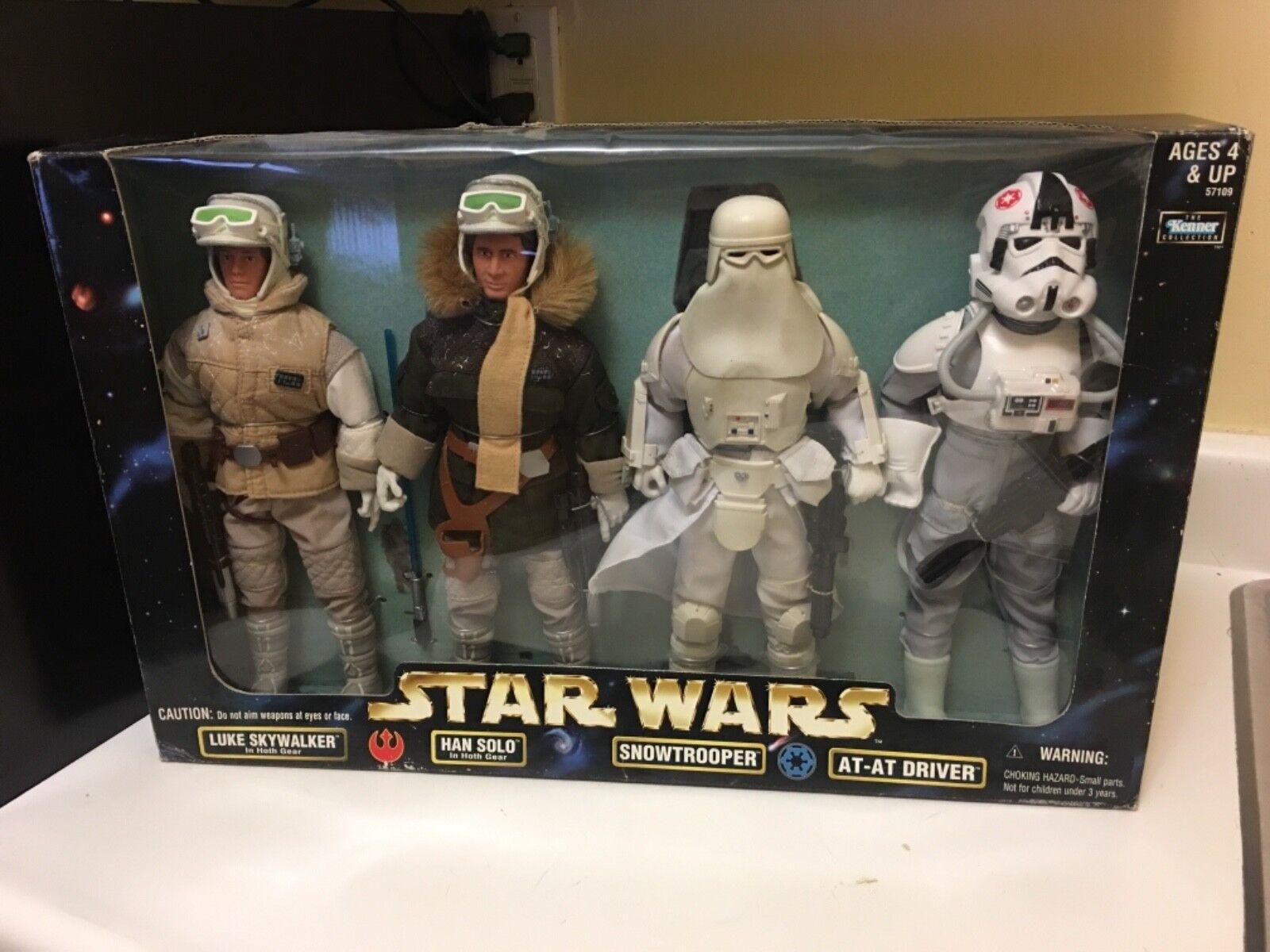 Hasbro - star - wars - aktion sammlung luke skywalker, han solo, snowtrooper, bei dri
