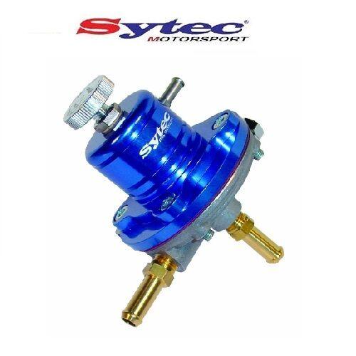 Sytec 1:1 Sar Ajustable 1-5 BAR Régulateur Pression Carburant (Bleu) 8mm