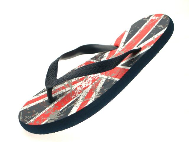 Mens Union Jack Sandals Flip Flop Great Britain Flag Beach Casual UK British Boy
