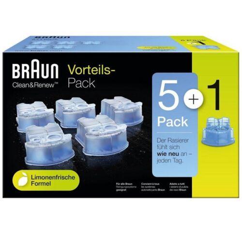Pack Braun Clean e Renew CCR CARTUCCIA nachfüllpackung 5+1