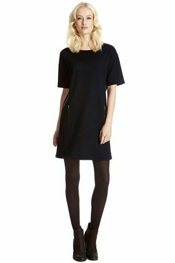 Oasis Jacquard Sweatshirt Dress L