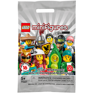 LEGO 71027 Series 20 Minifigures packet opened to identify content New