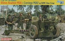 Dragon 1/35 6531 WWII US 105mm Howitzer & Carriage M2A2 w/USMC Gun Crew (4 Figs)