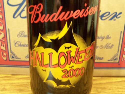 HALLOWEEN 2000 Glass Beer Bottle Empty 1-64 Oz King Pitcher Budweiser
